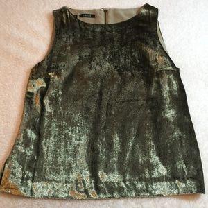 Carlisle Silk Blend Gold Shimmer Blouse 8